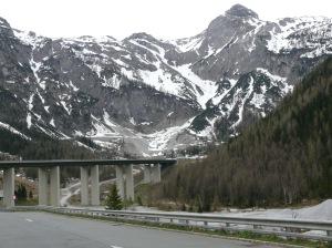 Kurz vor dem Tauern-Tunnel
